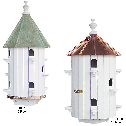 Copper Top Round Purple Martin House 10 Room Purple