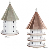 Copper Top Round Purple Martin House (12 or 15 Room)