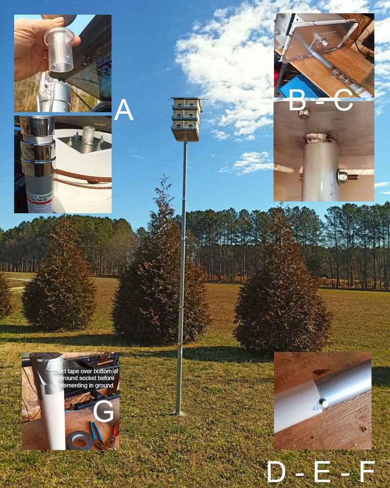 harbor freight flagpole for purple martin house