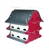 PVC Barn Purple Martin House - Red (12 Room)