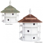 Copper Top Hexagonal Purple Martin House (8 or 12 Room)